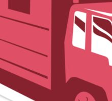 horse truck trailer retro Sticker