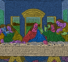 The Last Supper Culture Cloth Zinc Collection Sticker