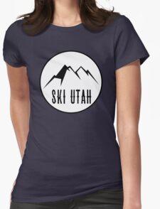 Ski Utah Womens Fitted T-Shirt
