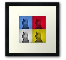 Primary statues Framed Print