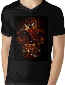 Day of the Dead Death Mask Mens V-Neck T-Shirt
