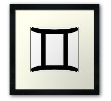 Gemini - The Twins - Astrology Sign Framed Print