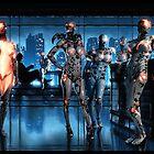 Cyberpunk Nightclub Painting 001 by Ian Sokoliwski