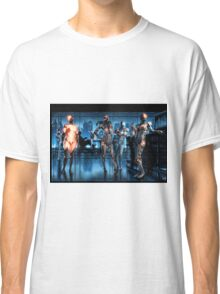 Cyberpunk Nightclub Painting 001 Classic T-Shirt