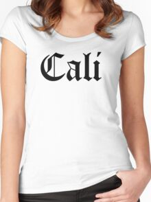 CALI LIFE Women's Fitted Scoop T-Shirt