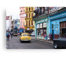 Havana street scene Canvas Print