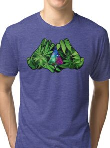 The Weed Galaxy Hands Tri-blend T-Shirt