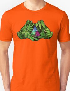 The Weed Galaxy Hands Unisex T-Shirt