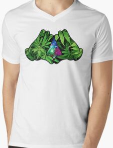 The Weed Galaxy Hands Mens V-Neck T-Shirt