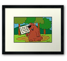 I Hunt And Fish But Don't Get To Vote Framed Print