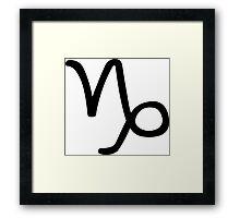Capricorn - Sea-goat - Astrology Sign Framed Print