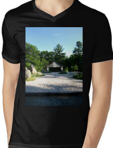 Zen Garden Mens V-Neck T-Shirt
