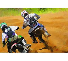Motocross Dirt-Bike Championship Racers Photographic Print