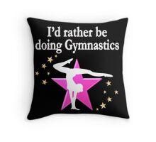 PRETTY PINK I LOVE GYMNASTICS DESIGN Throw Pillow