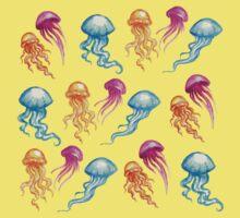 JellyFish, tan One Piece - Short Sleeve