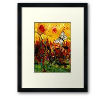 Singing Butterfly Framed Print