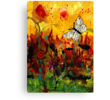 Singing Butterfly Canvas Print