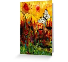 Singing Butterfly Greeting Card