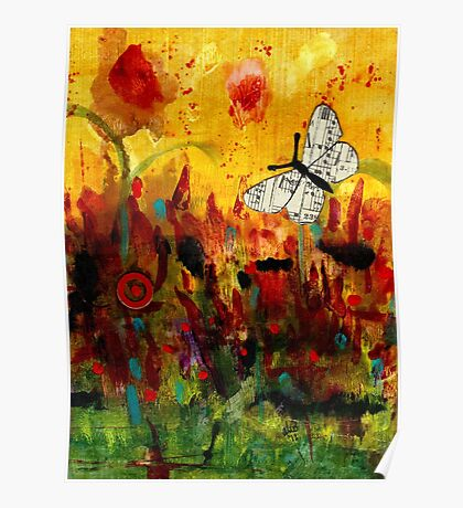 Singing Butterfly Poster