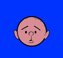 Karl Pilkington - Head - BLUE by aelari1