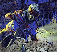 Trail Blazer Motocross Rider  by NaturePrints