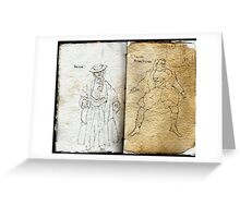Altered Sketchbook Mitre Square & Beggar Greeting Card