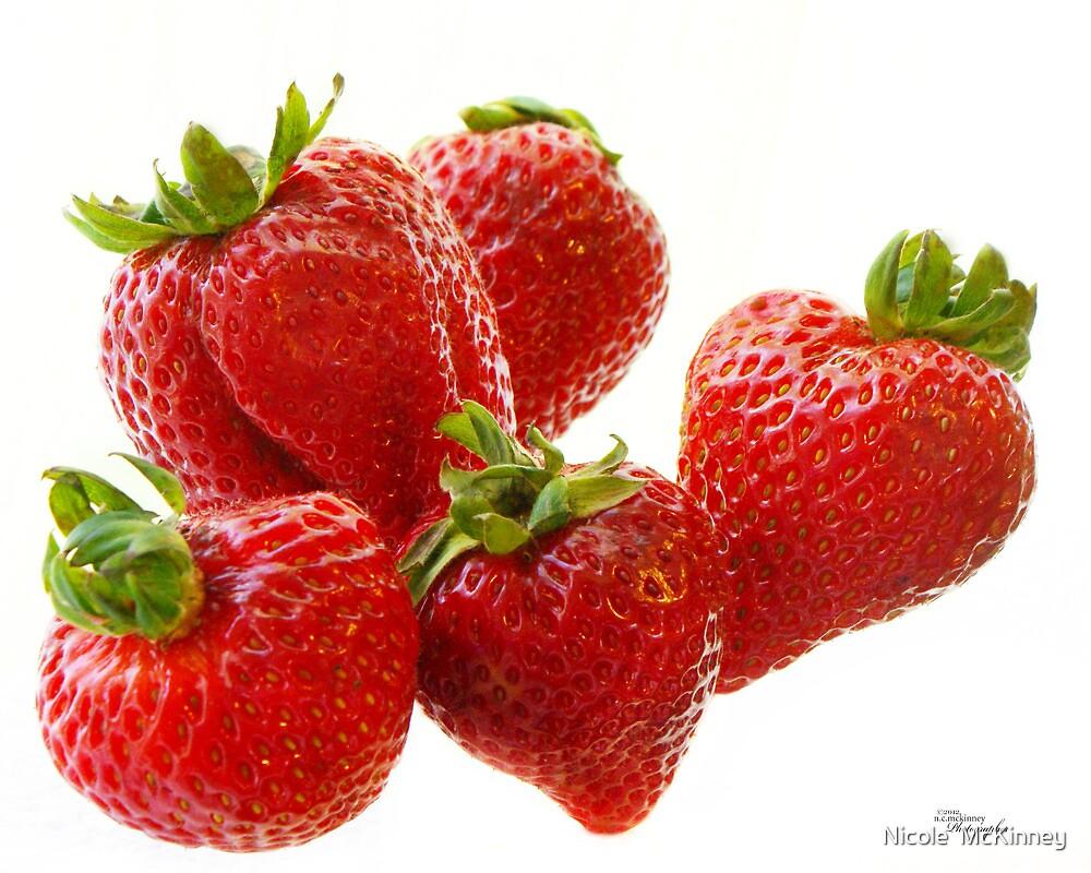 Berries, Floating by Nicole  McKinney
