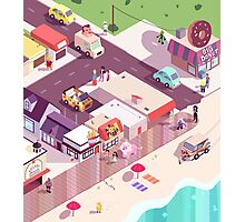 Isometric Beach City Photographic Print