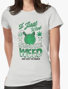 SMOKE WEED Womens Fitted T-Shirt