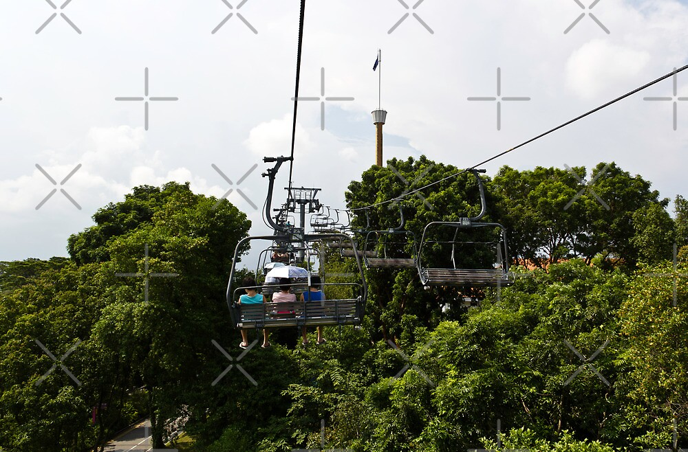 Enjoying the skyride in Sentosa in Singapore by ashishagarwal74