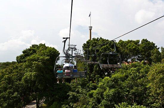 Enjoying the skyride in Sentosa in Singapore by ashishagarwal74