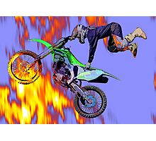 High Flying Freestyle Motocross Rider Photographic Print