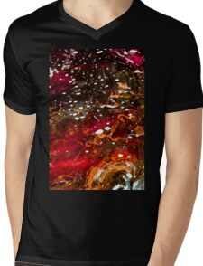 Liquid Stained Glass Mens V-Neck T-Shirt