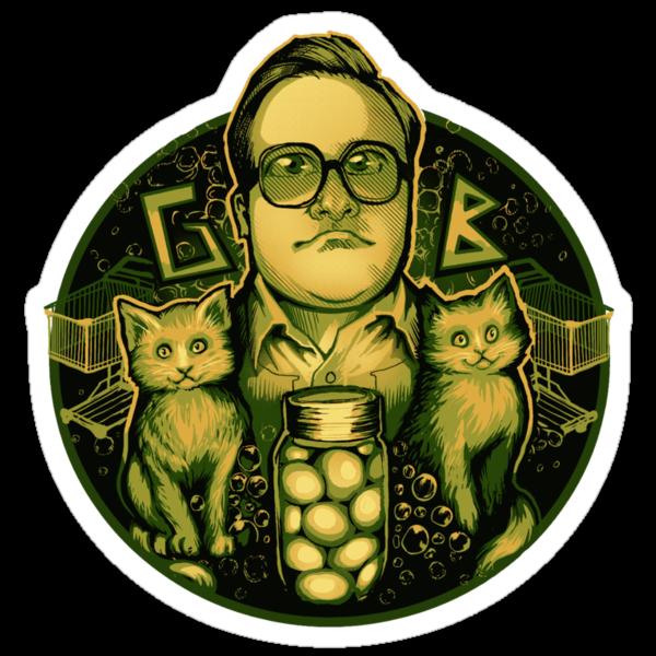 The Green Bastard - Sticker by MeganLara