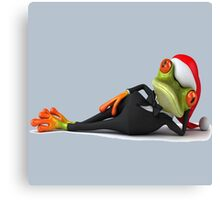 frog_christmas Canvas Print