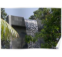 Waterfall at the swimming pool at the Siloso Beach Resort in Sentosa Poster
