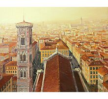 Flight over Florence Photographic Print
