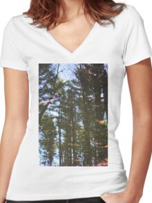Woods In The Water Women's Fitted V-Neck T-Shirt