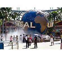 Globe at Universal Studios park in Sentosa in Singapore Photographic Print