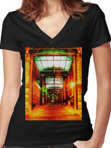 Sneakin' Sally Through The Alley  Women's Fitted V-Neck T-Shirt