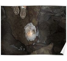 Melinis Cave Ice at Lava beds national monument northern california Poster