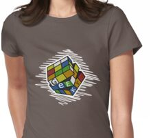 Geek Cube Womens Fitted T-Shirt