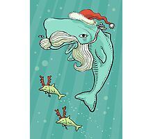 Christmas Whale Photographic Print