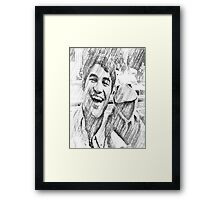 Darren Criss and Kermit the Frog Framed Print