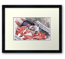Ferrari 312 T 1976 Clay Regazzoni Framed Print