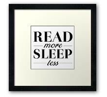Read/Sleep Framed Print