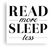 Read/Sleep Canvas Print