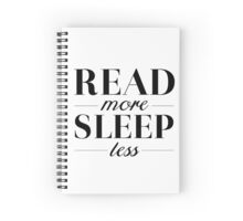 Read/Sleep Spiral Notebook