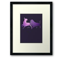 Bull Fight in Lilac Framed Print