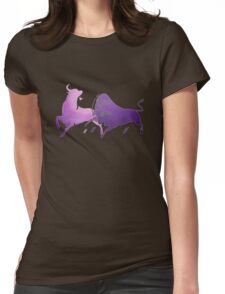 Bull Fight in Lilac Womens Fitted T-Shirt